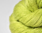 Splitted lime  - Silk/Cashmere Fine Lace Yarn