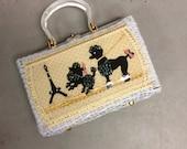 1950s Poodle Handbag 50s Paris