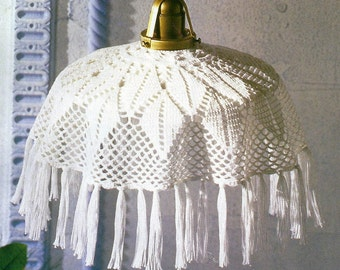 Crocheted Lamp Shade cover - Alpine free shipping