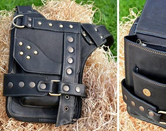 Leather Messenger Bag | Shoulder Bag | iPad | leather | Man | Woman | Fashion | Urban | Burning Man | Steampunk | Designer |