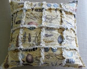 PILLOW SALE  ***  Birds of a Feather - a shabby chic rag pillow cover