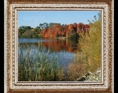 Autumn at The Lake Miniature Dollhouse Art Picture 6758
