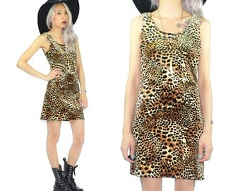 90s leopard bandage dress - rock n roll vixen fuzzy velvet wild animal print - stretchy body con maxi - small S