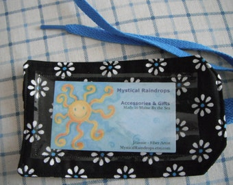 Pet Carrier Tag - Daisies - Luggage Tag - ID tag - Traveling with Pets - cat - dog