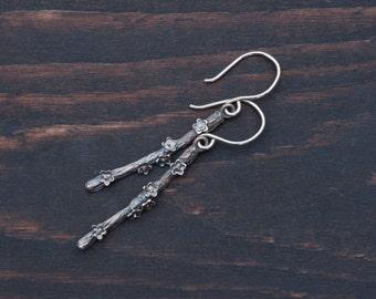 Sterling Silver Dainty Blooms Earrings