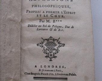 1755 Ed. Pense'es Diverses et Reflexions Philosophiques