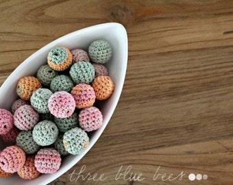 Crocheted  Beads 12 Pcs Soft