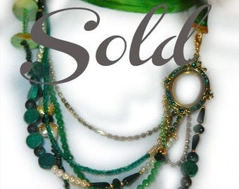 Emerald and Mixed Gemstone Statement Necklaces