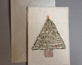 Christmas Card Machine embroidery from an original design