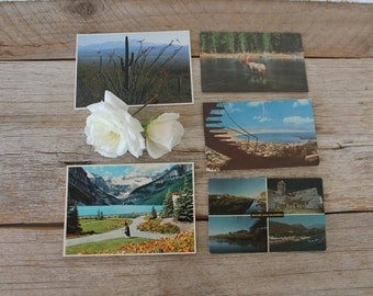 Vintage Postcards, set of 5