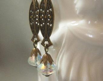 Art Deco Earrings - Great Gatsby Jewelry - 1920s Flapper Earrings - Downton Abbey Earrings - Edwardian Jewelry