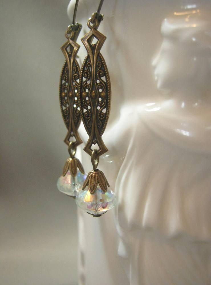 art deco earrings great gatsby jewelry 1920s flapper