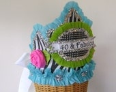 40th Birthday Hat - Crown 40 & FABULOUS or customize - Birthday Party Crown-