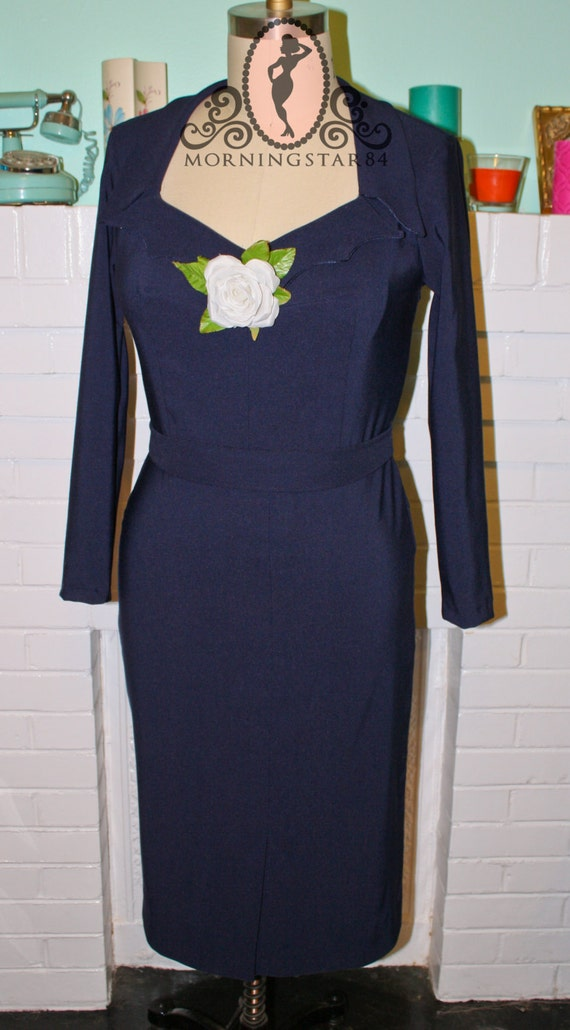 Pinup Wiggle Dress- The Girl Cant Help It - Mansfield -Custom Made To Order
