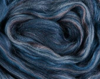 "Ashland Bay Multi Colored Merino for Spinning or Felting ""Denim""  4 oz."