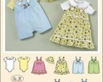Simplicity 2905 Baby Jumper, Romper, Onesie and Hat