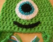 Monsters University Inspired Newborn Baby Hat