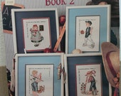 Sweet Scriptures Book 2 - Vintage pattern- Counted Cross Stitch - Sweet Children and Scriptures 8 Designs