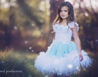 My Blue Angel...A Lace Tutu Dress