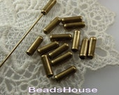 50 pcs Antique Brass Plated Stick- Pin Cover,Nickel Free