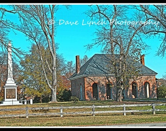 Hanover VA Courthouse circa 1735 - Hanover County VA  - Fine Art Photography by Dave Lynch - Free Shipping  on any additional purchase
