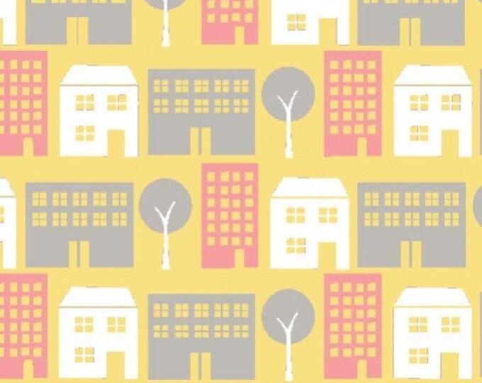Organic Cotton Fabric - Monaluna Urban Patch - Pretty City