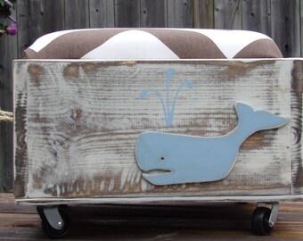 Whale Toy Box/Seat/Ottoman