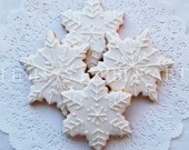 Sparkling Snowflake Cookies (1 Dozen)