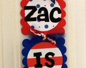 Sesame Street Elmo Custom Party sign / Door Hanger