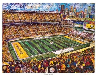 Pittsburgh Steelers Football painting, Heinz Field Print, Limited Edition by Johno Prascak