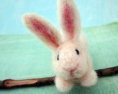 Little White Bunny, Needle Felted, Spring, Animal, One of a Kind