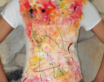Hand Painted Tee Shirt for Women