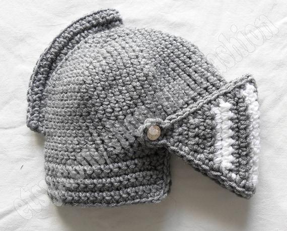 Crochet Knight Helmet : knight helmet crochet beanie hat original warm black white knitted cap ...