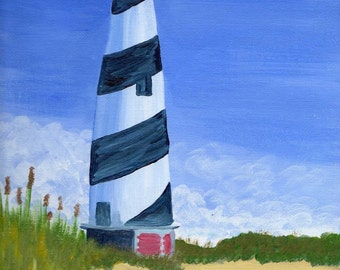 Lighthouse - Acrylic Landscape Painting