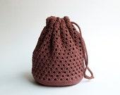 Garnet crochet gala handbag