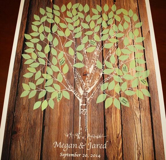 Guest Book Printing: Wood Guestbook Wedding Tree Guest Book On Wedding Tree Poster