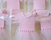 Baby Girl Ballerina Tutu Favor bags, baby girl, baby shower, ballerina birthday, ballerina baby shower, ballerina tutu,tutu party, ballerina