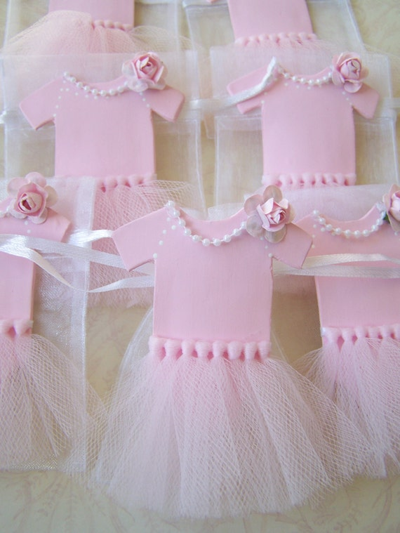 Baby girl ballerina tutu favor bags 10 pieces by - Decoration baby shower girl ...