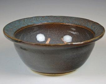 Ceramic Bowl, Blue Ceramic Serving Bowl, Prep Bowl, Mixing Bowl, Serving Bowl,