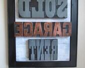 Antique Print Block Art