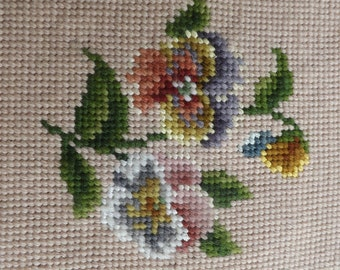 Needlepoint  Pansy  Design