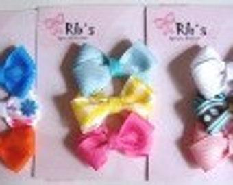 Baby Hair Bows/ Velcro