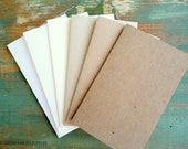 "50 Rustic Place Cards/Escort Cards: Recycled placecards, Tent cards, 2.5""x4"", 2.5""x3.5"", 2""x3.5"", kraft brown, light brown, white, ivory"