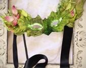 Woodland Rustic Fairy inspired masquerade ball Venetian mask fascinator, costumes, halloween, weddings, brides, photos, props