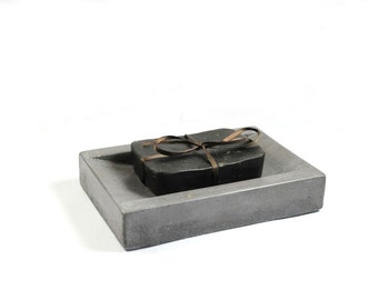 SALE: Concrete Soap Dish - Dark Grey