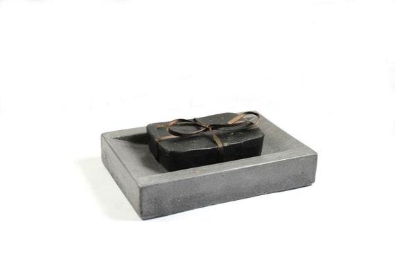 SALE: Concrete Soap Dish - Dark Grey