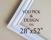 CUSTOM ORDER for Christa - Magnetic Chalkboard in Shades of Gray