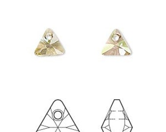 24pcs Swarovski Crystal Rhinestone Crystal 8mm Crystal Luminous Green Faceted Triangle Fancy Stone Model 6628