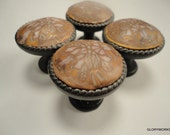 8 Bronze Copper Cream   Polymer Clay   Cabinet Knobs/ Pulls.  13 Available   Oil rubbed bronze metal base