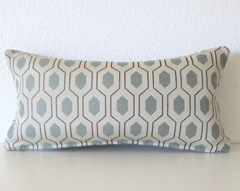 Thom Filicia Euclid Mineral - Geometric - Designer - 8x16 - Mini lumbar pillow cover